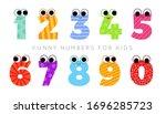 colored funny vector cartoon... | Shutterstock .eps vector #1696285723