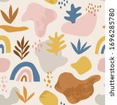 seamless childish pattern with... | Shutterstock .eps vector #1696285780