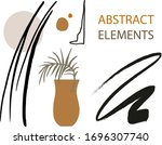 abstract trendy elements and... | Shutterstock .eps vector #1696307740