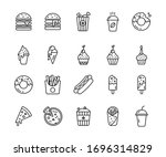 set of fast food related vector ... | Shutterstock .eps vector #1696314829