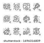 zodiac  astrological signs ... | Shutterstock .eps vector #1696316809