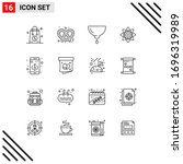 16 creative icons modern signs... | Shutterstock .eps vector #1696319989