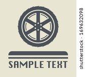 car wheel icon or sign  vector... | Shutterstock .eps vector #169632098