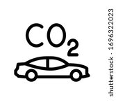 co2 vector thin line icon  | Shutterstock .eps vector #1696322023