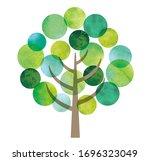round shape leaves big tree   Shutterstock . vector #1696323049