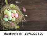 Pastel Easter Eggs And Colorful ...