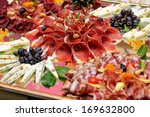 meats and cheese selection | Shutterstock . vector #169632800