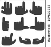 hands icons set black pointers. | Shutterstock .eps vector #169633388