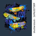 urban style modern t shirt with ...   Shutterstock .eps vector #1696337389