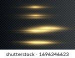 yellow horizontal lens flares... | Shutterstock .eps vector #1696346623