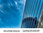 a low angle shot of a tall... | Shutterstock . vector #1696353439