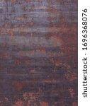rusty worn metal iron steel...   Shutterstock . vector #1696368076