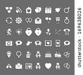 set heart of icons with shadows | Shutterstock .eps vector #169638026