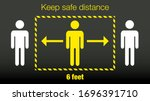 stay 6 feet away keep your...   Shutterstock .eps vector #1696391710
