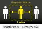 stay 2 meters away keep your...   Shutterstock .eps vector #1696392463