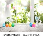 Bright Easter Eggs  Flowers And ...