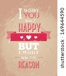 happy valentines day card with... | Shutterstock .eps vector #169644590
