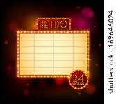 retro billboard poster vector... | Shutterstock .eps vector #169646024