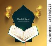 nuzul al quran  the day when...   Shutterstock .eps vector #1696465213