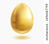 gold egg with shadow. wealth... | Shutterstock .eps vector #1696467799