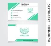 vector businnes card template... | Shutterstock .eps vector #1696481650