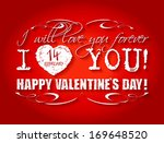 happy valentines day card or... | Shutterstock .eps vector #169648520