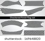checkered finish flag set on... | Shutterstock .eps vector #169648820