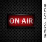 on air message  studio sign | Shutterstock .eps vector #169649150