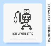 icu ventilator  medical therapy ...   Shutterstock .eps vector #1696496689