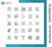 modern set of 25 lines...   Shutterstock .eps vector #1696498216