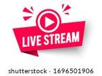 vector illustration live stream ... | Shutterstock .eps vector #1696501906