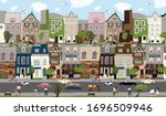 city landscape  vector cute... | Shutterstock .eps vector #1696509946