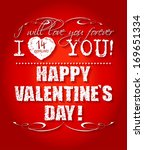 happy valentines day card or... | Shutterstock .eps vector #169651334