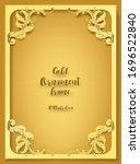 3d illustration of  gold... | Shutterstock .eps vector #1696522840