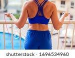 woman with short blond hair... | Shutterstock . vector #1696534960