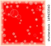 Snowflakes On Red Background...