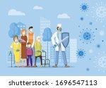 fight against covid 19 corona... | Shutterstock .eps vector #1696547113