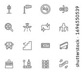 Airport Line Icons Set. Linear...