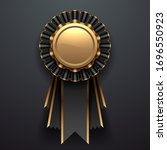 gold and black award with... | Shutterstock .eps vector #1696550923