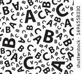 black and white abc letter... | Shutterstock .eps vector #1696558330