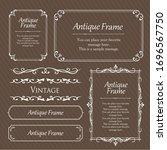 stylish frame design set ...   Shutterstock .eps vector #1696567750