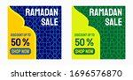 ramadan sale banner background... | Shutterstock .eps vector #1696576870