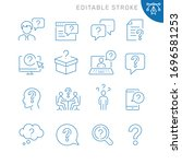 question related icons.... | Shutterstock .eps vector #1696581253