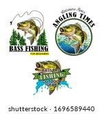 bass fishing emblems.... | Shutterstock . vector #1696589440