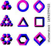 optical illusion geometric... | Shutterstock .eps vector #1696599433