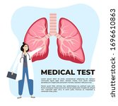 concept of pulmonary fibrosis ... | Shutterstock .eps vector #1696610863