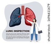 concept of pulmonary fibrosis ...   Shutterstock .eps vector #1696611679