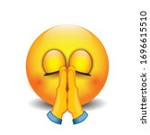 praying emoji   folded hands...   Shutterstock .eps vector #1696615510