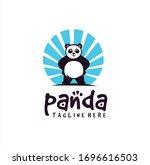 panda logo design vector stock...   Shutterstock .eps vector #1696616503