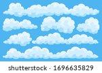 big set of vector cartoon... | Shutterstock .eps vector #1696635829